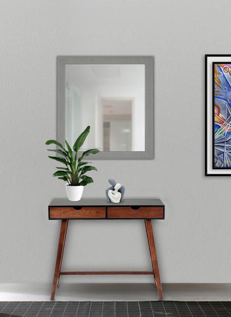 Specchio con cornice silver 60 x 65 cm