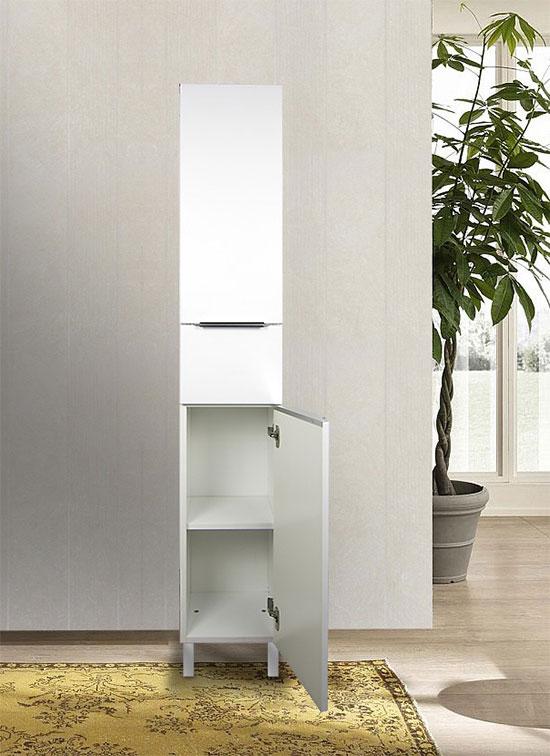 Colonna bagno a terra bianco opaco 168 x 30 cm con apertura a destra