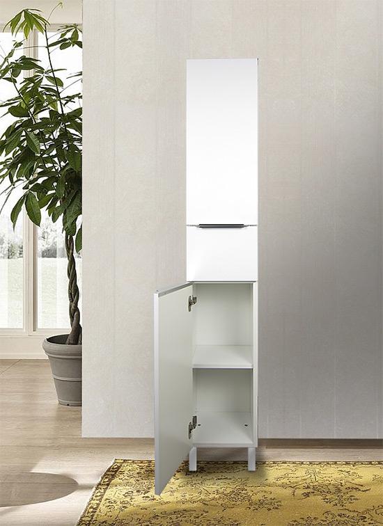 Colonna bagno a terra bianco opaco 168 x 30 cm