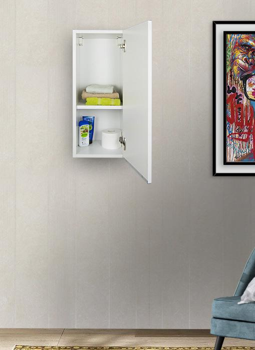 Pensile bagno sospeso bianco opaco 72 x 30 cm