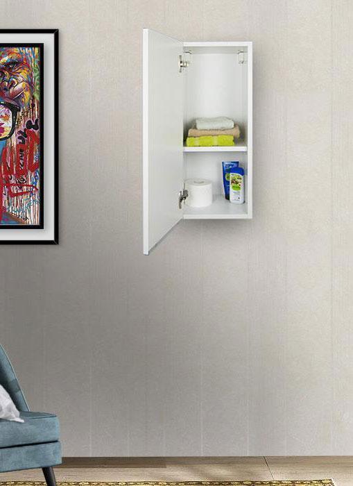 Pensile bagno sospeso bianco opaco 72 x 30 cm con apertura a sinistra