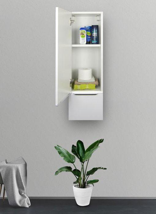 Pensile bagno sospeso bianco opaco 96 x 30 cm con apertura a sinistra