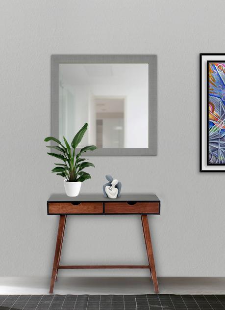 Specchio con cornice silver 70 x 65 cm