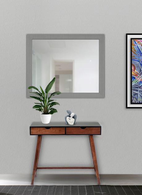 Specchio con cornice silver 80 x 65 cm
