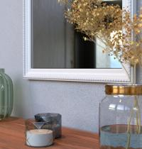 specchio milano bianco decorato