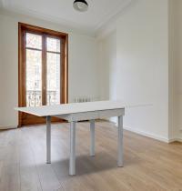tavolo a libro 80x80 cm allungabile bianco