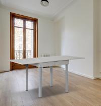 tavolo a libro allungabile piano grigio