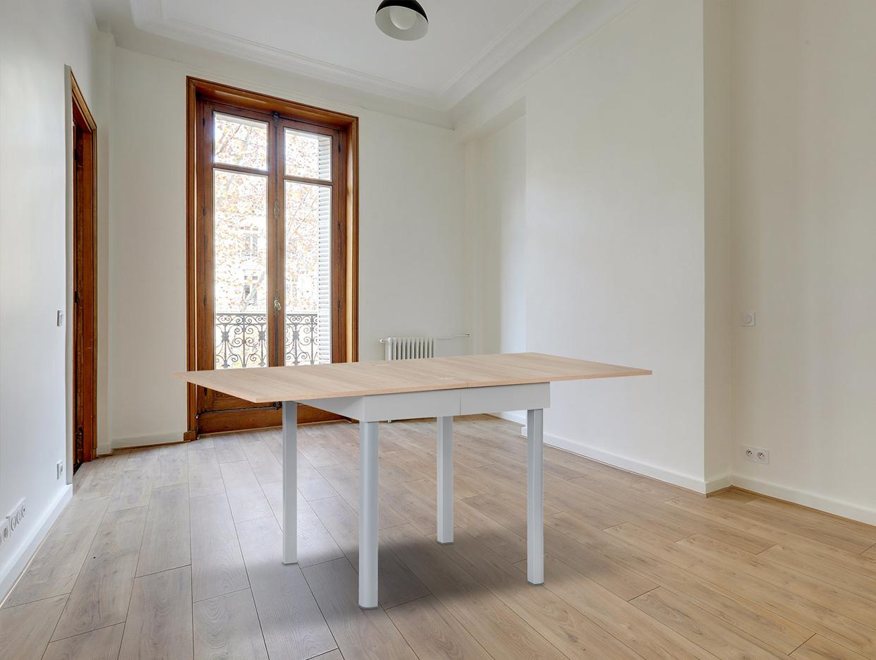 Tavolo allungabile 80x80 cm rovere