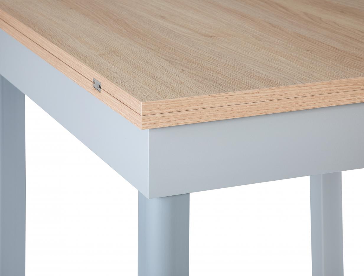 Angolo tavolo allungabile 80x80 cm rovere