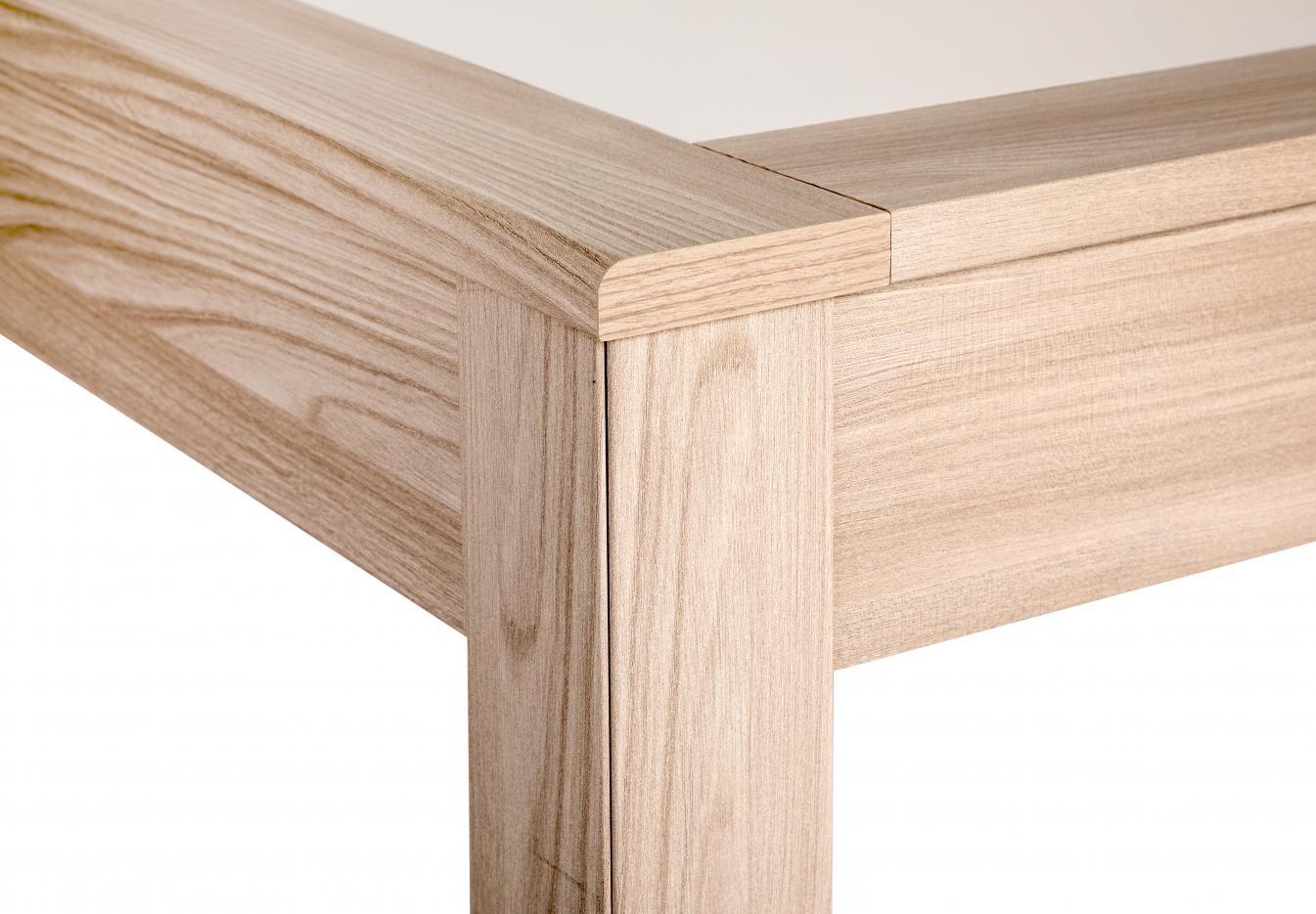 angolo tavolo allungabile 80x120 cm rovere naturale
