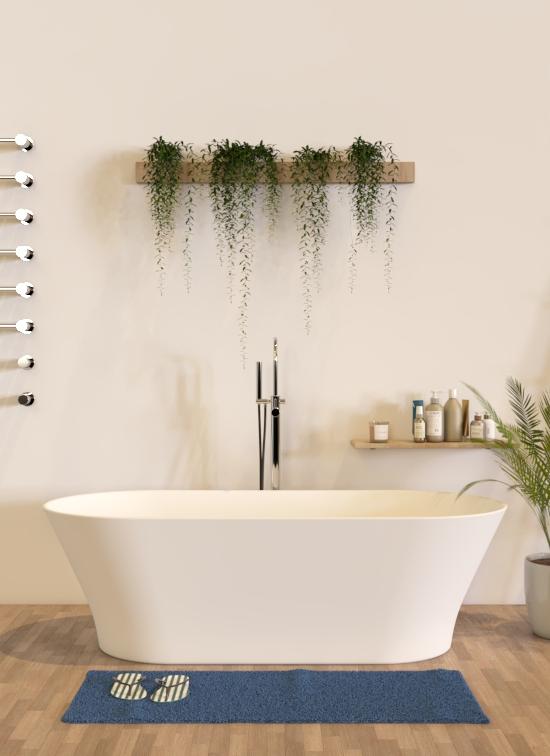 Vasca da bagno dal design minimale