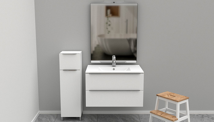 Mobile per il bagno sospeso 2 cassetti